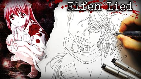 Disturbing but Awesome Anime: Elfen Lied - DRAWING - YouTube