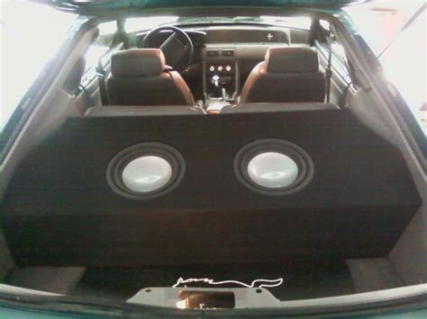 Custom box for a hatchback mustang w/ 2 10in subs
